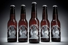 """""""Inspired by a tour of US microbreweries, Amsterdam's Brouwerij het IJ decided to create their own US-punk-style IPA. Branding studio Redthumb was given it's shortest ever brief (simply """"Tits, tattoos, and skulls"""") and created a design with enough punch to match the full flavoured brew."""