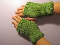 Green or Pick Your Color Hand Knit Fingerless by UpNorthKnits, $28.00