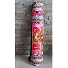 f0f3253108d1 Embroidered Tribal Yoga Mat Bag Workout Accessories