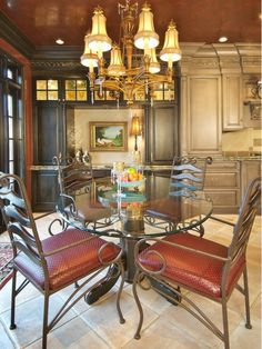 RED ELEGANT DINING ROOM - Home and Garden Design Idea's
