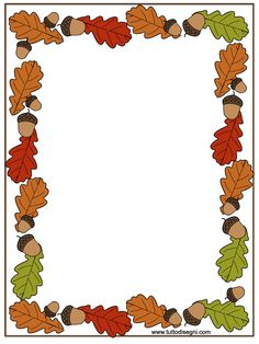 Cornicetta autunno per quaderno - TuttoDisegni.com