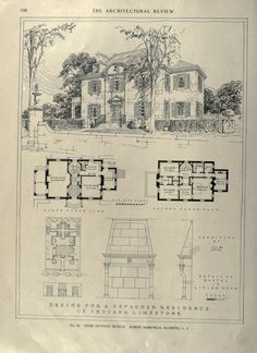The Sims, Sims 4, Architecture Old, Architecture Details, Architectural Floor Plans, Vintage House Plans, House Sketch, Two Story Homes, Sims House