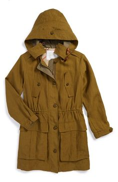 Burberry Hooded Linen Jacket (Little Girls & Big Girls) available at #Nordstrom