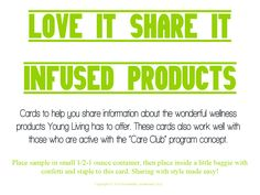 Colorful and fun cards to encourage sharing these wonderful gifts of wellness with others. This post covers Young Living's infused products.