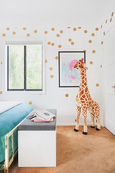 """180 / 2""""  Polka Dot Wall Decals - NEW larger amount - Gold Dot Wall Vinyl Confetti by WallAffection on Etsy https://www.etsy.com/listing/233129962/180-2-polka-dot-wall-decals-new-larger"""