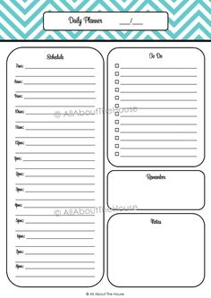 Daily Project Organizer Templates Free    Your Daily
