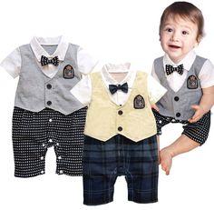 Baby Kids Toddler Boys Gentleman Onesie Bodysuit Romper Tuxedo Outfit Cloth Suit #UnbrandedGeneric