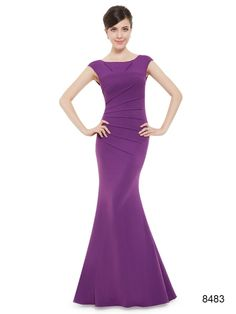 ストレッチ素材です フィッシュテールのパープル系ロングドレス - ロングドレス・パーティードレスはGN 演奏会や結婚式に大活躍!