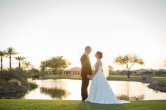 Trilogy at Vistancia Weddings | Arizona Wedding Venue | Bride & Groom Poses | Love | Couple Poses | Arizona Landscape | Golf Course | Lake | www.weddingsatvistancia.com