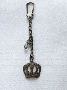 Crown Keychain  Industrial Keychain  3 inches by IndustrialWhimsy