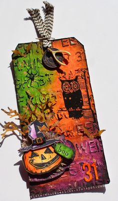 12 Tags of 2014 {My October Version} Tim Holtz  Sizzix  Stampers Anonymous