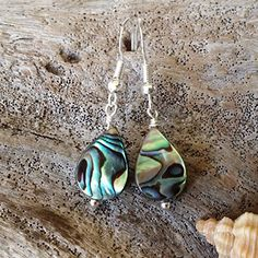 Handmade in Hawaii Nautral peacock abalone shell earringssterling silver earwires Mothers Day gift ** You can find more details by visiting the image link.Note:It is affiliate link to Amazon.