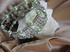Stunning Pearl and sparkle silver plated by Craftswithchrissie, £19.99