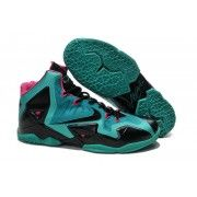 Cheap Lebron 11 Blue Black Pink Shoes $107.90  http://www.blackonshoes.com