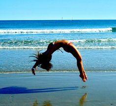 beach gymnastics