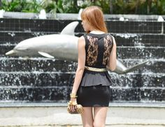 Sexy lace detail at the back.