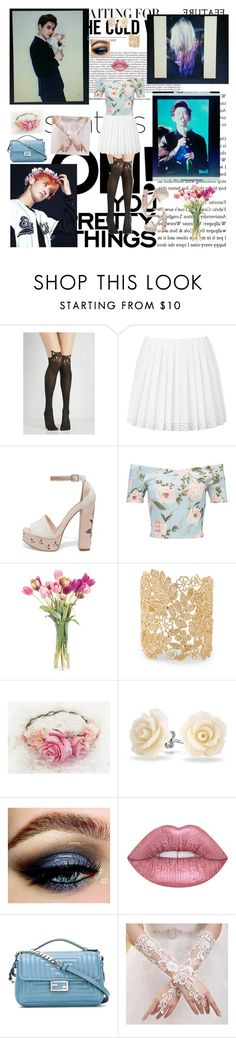 """""""Chanyeol Inspired"""" by bulletproof-wolfie ❤ liked on Polyvore featuring McQ by Alexander McQueen, Chinese Laundry, Miss Selfridge, NDI, Sole Society, Bling Jewelry and Fendi"""