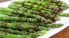 Grilled Asparagus with Roasted Garlic Vinaigrette