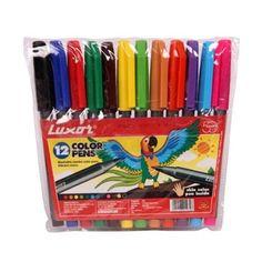 12 washable jumbo vibrant color pen set.