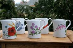 Hand painted porcelain, Muhu Porcelain, Estonia