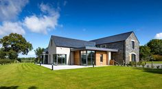 New Build In County Armagh Modern Bungalow Exterior, Modern Bungalow House, Modern Farmhouse Exterior, Modern Houses, House Outside Design, Country House Design, Pole Barn House Plans, Cottage House Plans, House Designs Ireland
