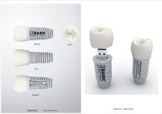 Teeth that store more than just cavities. Tooth USB Drive.
