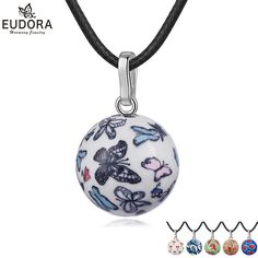 0f0564e44 Angel Caller Sweet Color Pattern Mexico Bola Nice Sounds Porcelain Harmony  Pregnancy Chime Ball Pendant Necklace Women Jewelry