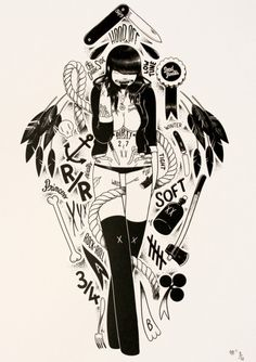 R/R by McBess SOLD OUT giclee #print #poster #walls #art #tattoo