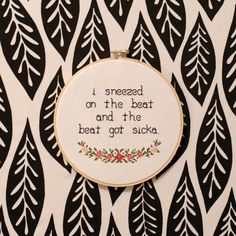 Beyonce Partition Cross Stitch Sneezed on the by ModernGrandma
