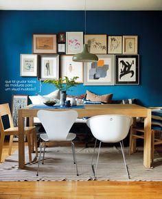 blue frame wall #decor #framewall