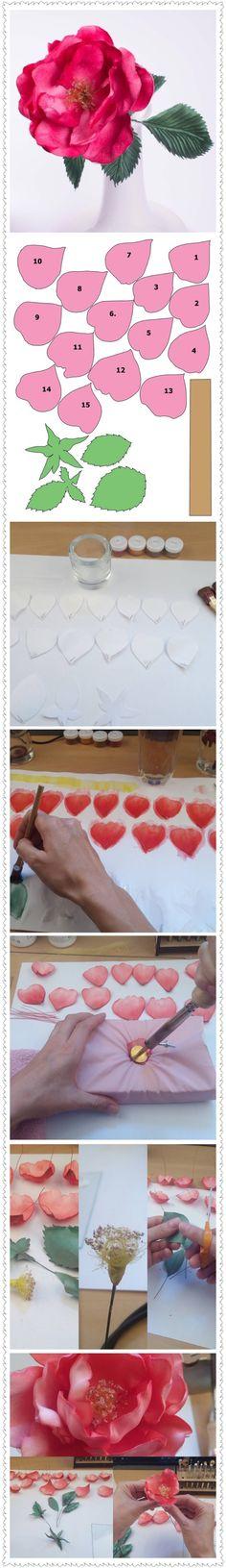"""Flower materials Kit """"Rose Nastya"""" Tutorial by FlowerMakingTools…"""