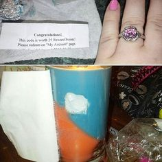 Look what Holly found in her #aloha #candle  A gorgeous #ring AND reward points!! Thanks for sharing.   Order yours at jicbyjulie.com.  #jicbyjulie #rewards #prizes #regrann #repost