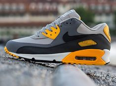 Nike Air Max 90 Essential - Pale Grey - Black - Anthracite - Orange -  SneakerNews.com 3cbddd51d1