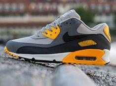 nike air max 90 pale grey black anthracite 3 Nike Air Max 90 Essential Pale Grey Black Anthracite Orange