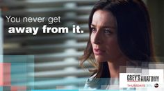 """You never get away from it."" Amelia Shepherd and Richard Webber, Grey's Anatomy quotes"
