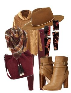 """""""Fall Drive #2"""" by purplerose062 on Polyvore featuring 7 For All Mankind, Cynthia Vincent, Janessa Leone and Loeffler Randall"""