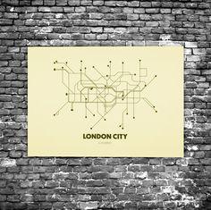 London City C7 - Acrylic Glass Art Subway Maps (Acrylglas, Tube, Underground)