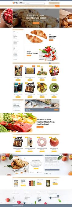 Template 63371 - Storeflex Food  Responsive OpenCart Template