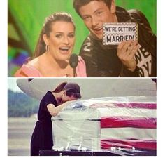 Cory Monteith died last night. I'm so sad. He was going to get married in two weeks and now, lea Michelle is planning his funeral instead of a happy marriage. Heartbreaking.