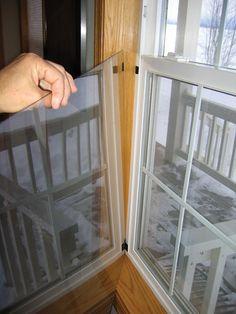 Indoor storm window