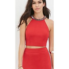 Red mini skirt , never been worn ! Red mini skirt , perfect for date night  or a night on the town with your girls. Size medium Forever 21 Skirts Mini
