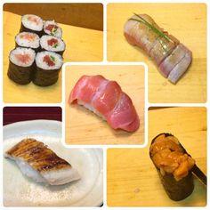 #東京グルメ #築地 #寿司大  #寿司 #鉄火巻き #ねぎトロ巻き #炙りトロ #穴子 #雲丹 #大トロ 大トロと雲丹たまらんかったなあ(o) #Tokyo #Tsukiji #Sushidai #sushi #TekkaMaki #NegitoroMaki #AburiToro #Anago #Uni #OToro #TunaSushiRoll #MincedTunaRoll #LightlyBroiledFattyTuna #CongerEel #SeaUrchin #FattyTuna by bl_k888
