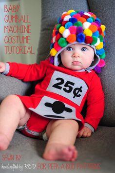 DIY Baby Gumball Machine Costume