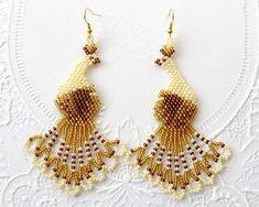 Beaded tassel earrings, Fruit earrings, BonBon earrings by KorallaUA Beaded Tassel Earrings, Bird Earrings, Seed Bead Earrings, Fringe Earrings, Statement Earrings, Etsy Earrings, Seed Beads, Beaded Jewelry, Crochet Earrings