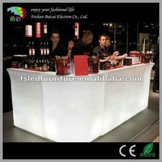 The Club Bar is part of the LED light LUMINARY Collection which featuring a modular bar system for creating many different bar configurations. Home Bar Counter, Bar Counter Design, Plastic Tables, Small Bars, Philadelphia Wedding, Wedding Events, Furniture, Arredamento
