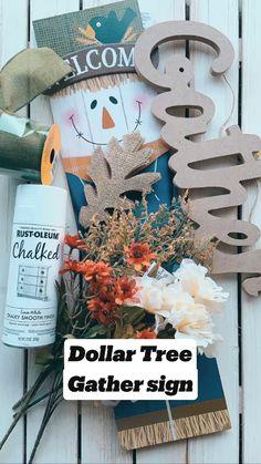 Dollar Tree Fall, Dollar Tree Decor, Dollar Tree Crafts, Diy Crafts For Home Decor, Fall Home Decor, Diy Autumn Crafts, Decor Diy, Tray Decor, Autumn Home