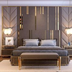 bedroom interior design Comfortable Modern Small Bedroom Design and Decor Ideas Luxury Bedroom Design, Master Bedroom Design, Luxury Home Decor, Home Bedroom, Bedroom Ideas, Luxury Master Bedroom, Bedroom Styles, Luxury Interior Design, Headboard Ideas