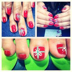 Christmas nail design @ Nail Masters, Comstock Park, MI