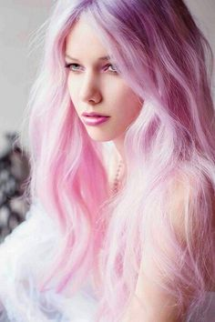 pink colored cotton candy hair <3