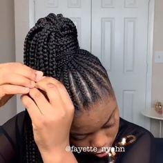 healthyhairjourney crochet box braids Black Girl Hairstyles For Kids box Braids crochet healthyhairjourney Crochet Braids Hairstyles, African Braids Hairstyles, Easy Hairstyles, African Hair Braiding, Afro Hairstyles For Kids, Crotchet Box Braids, Natural Cornrow Hairstyles, Box Braids Bun, Ghana Braids